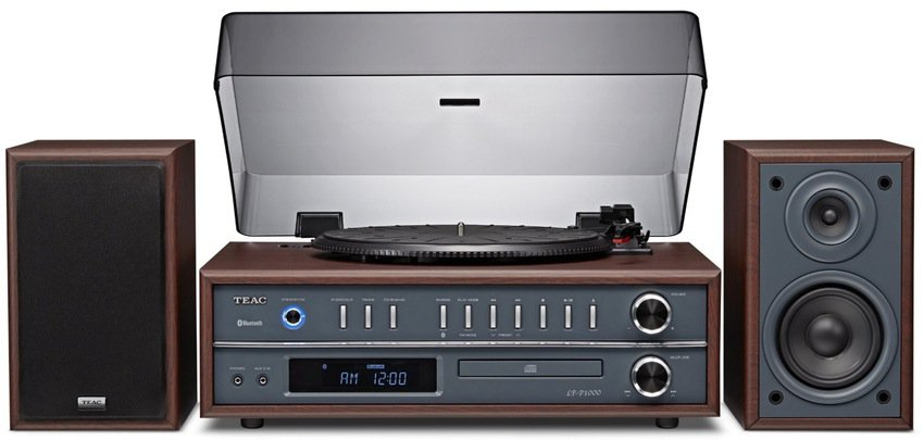 RECORD VINYL LP CD PLAYER TURNTABLE STEREO SPEAKER SYSTEM FM RADIO BLUETOOTH USB