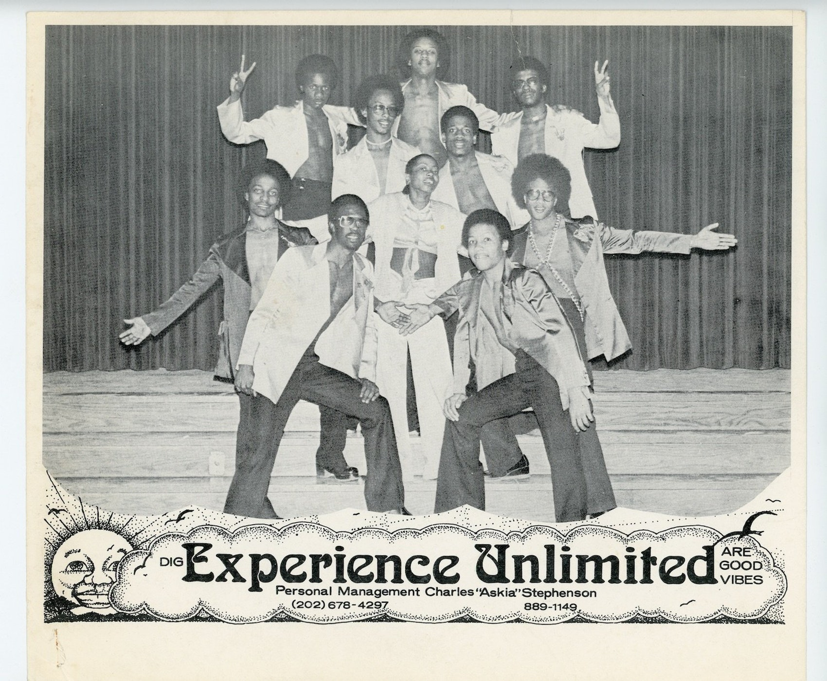A '70s era Experience Unlimited promo photo.