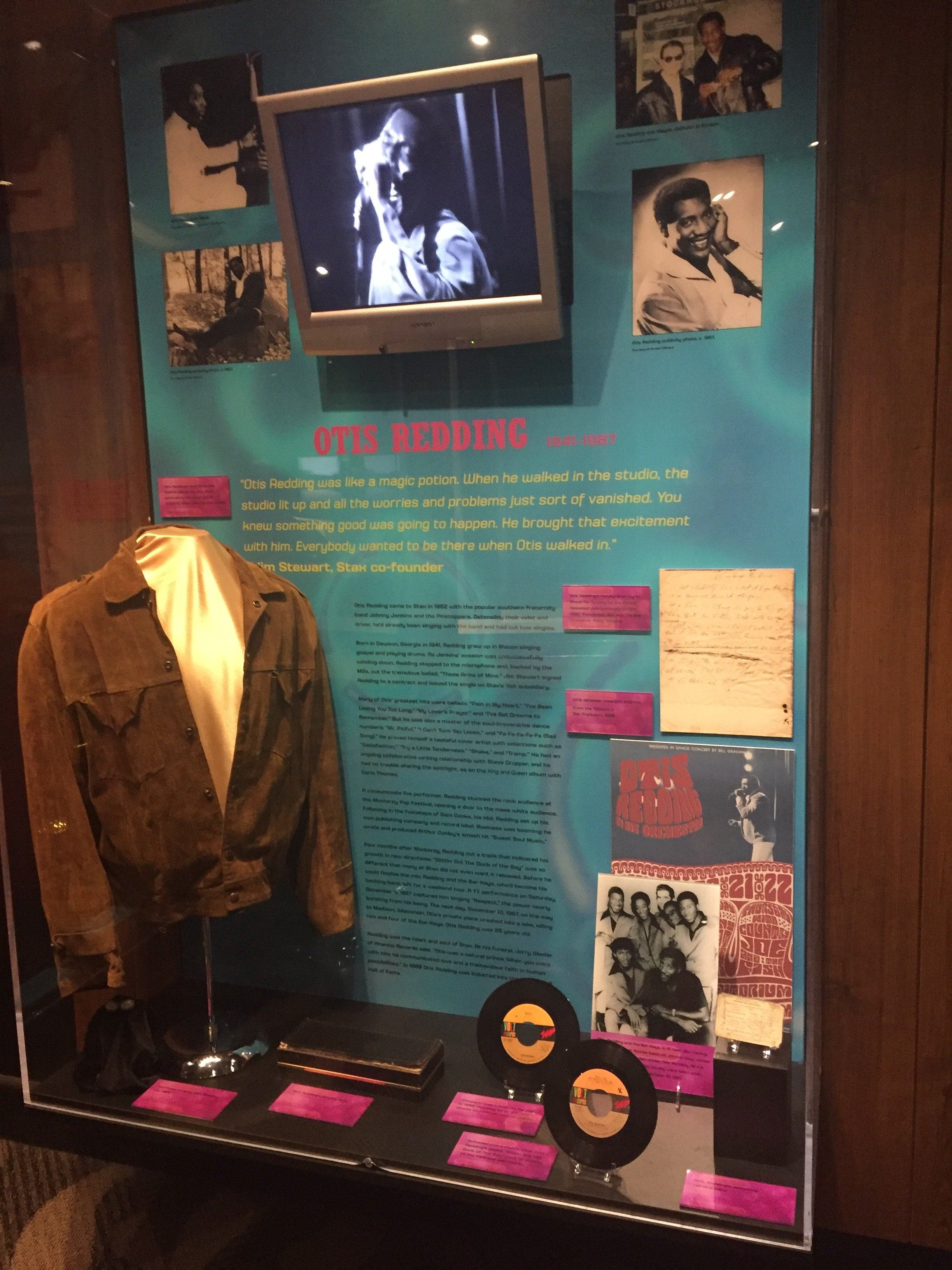 The Otis Redding exhibit at the Stax Museum