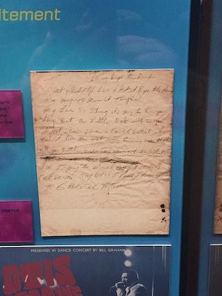 """Handwritten lyrics for """"Lovin' By the Pound"""""""