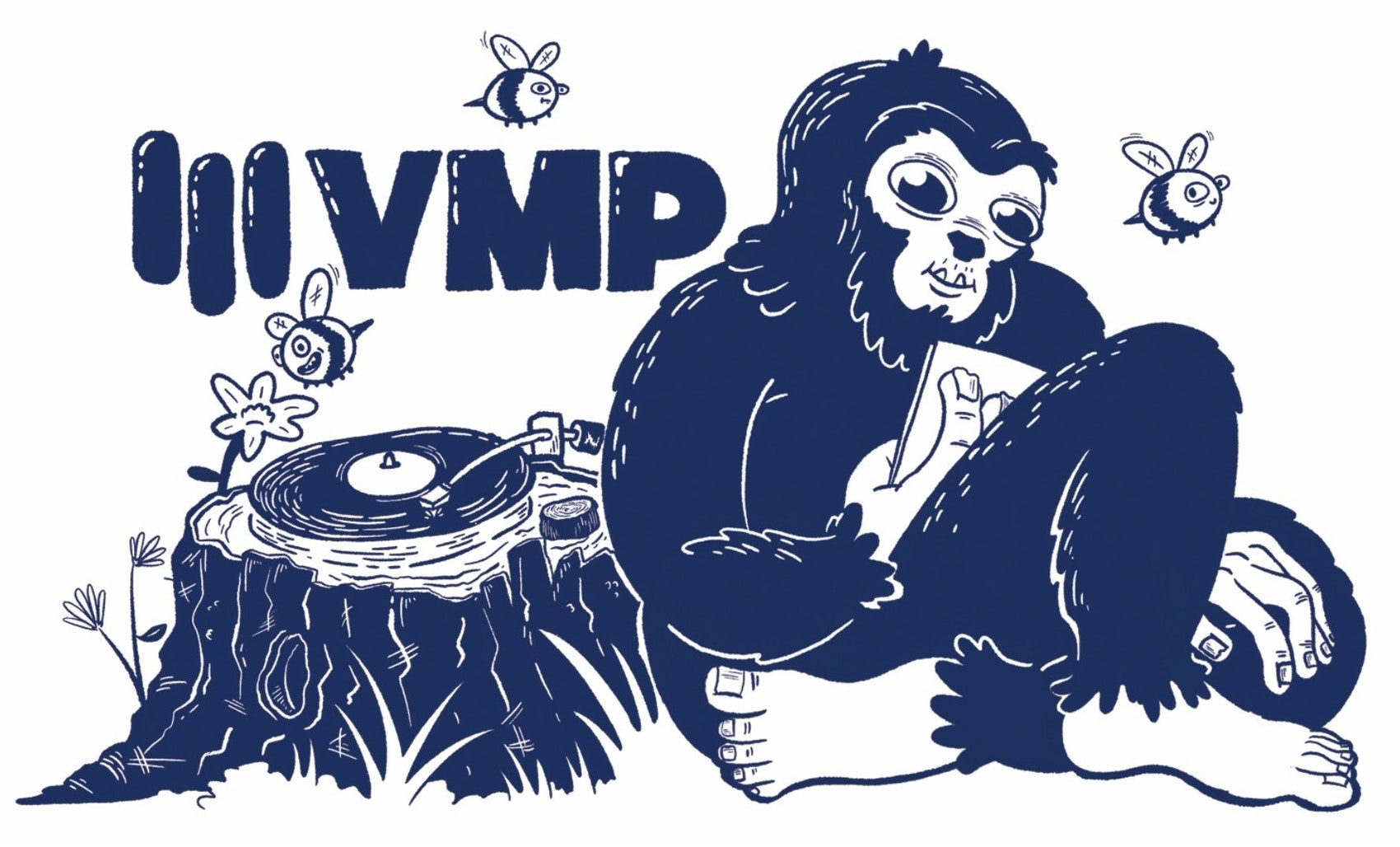 Winning VMP Sticker Design #1. Designed by: Kodi Sershon
