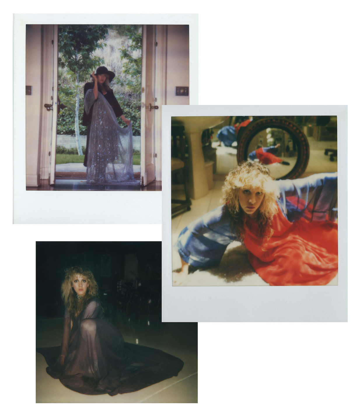 Polaroids of young Stevie Nicks from her website.