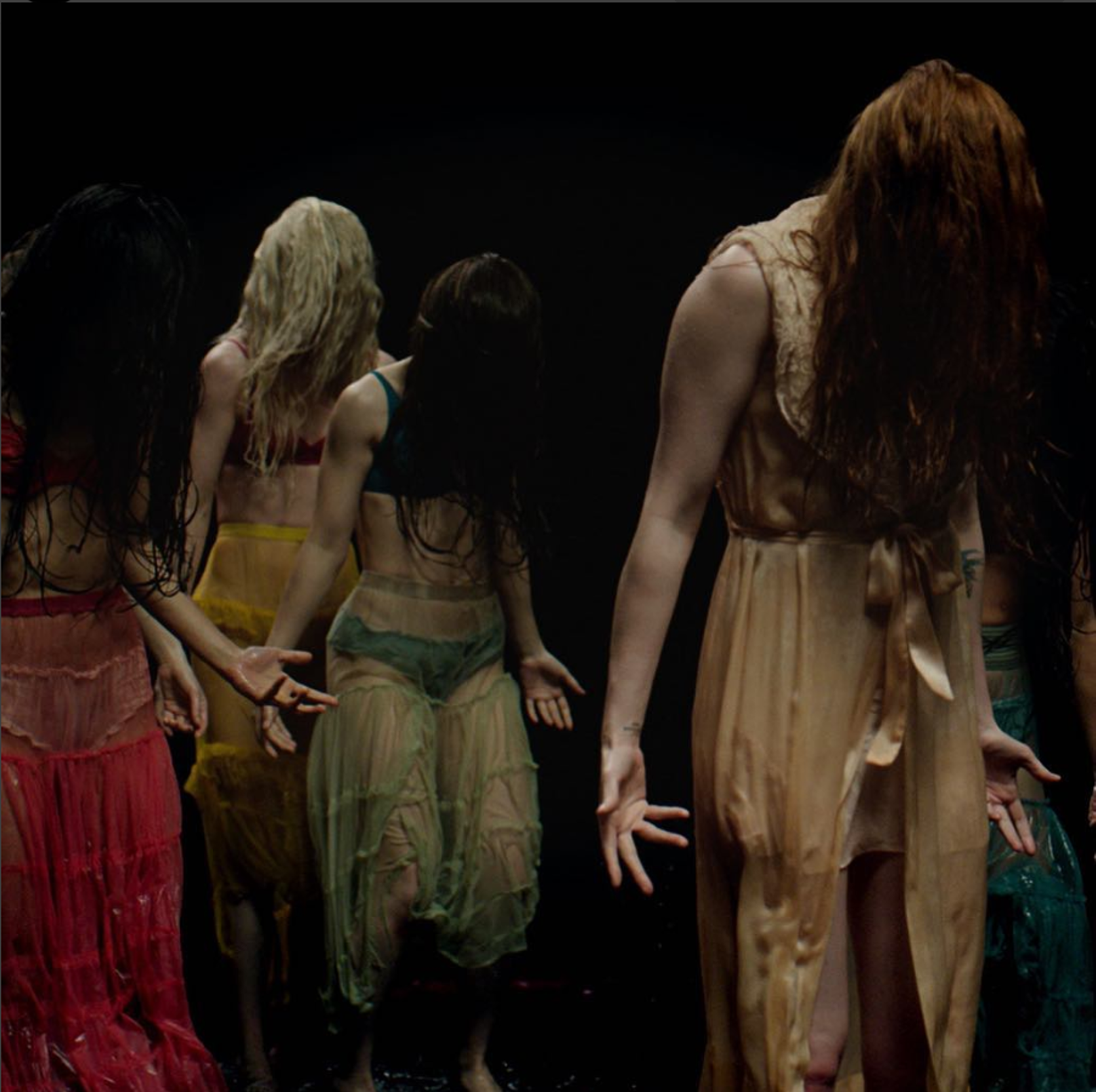 """Music video still of """"Big God"""" from Florence Welch's Instagram."""